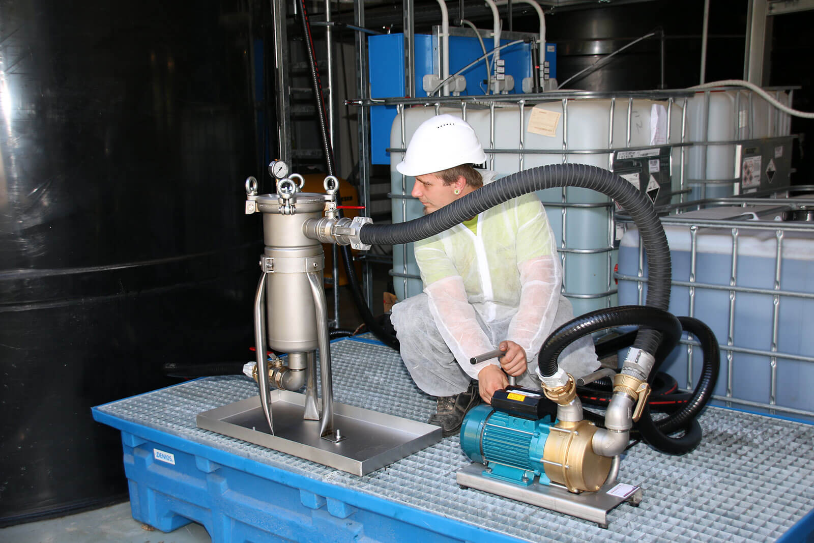 Filtration Lebensmitteltank