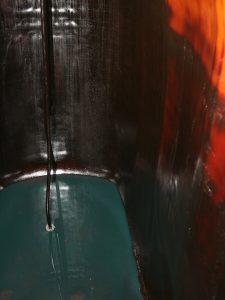 Blick in den nahezu komplett entleerten (Alt-)Tank