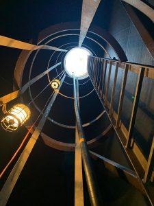 Blick vom Einstieg / Einstiegsleiter ins Freie