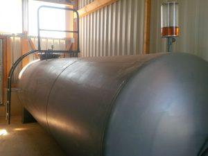 Heizöl Versorgung der Trocknungsanlage erfolgt aus oberirdischem Erdtank