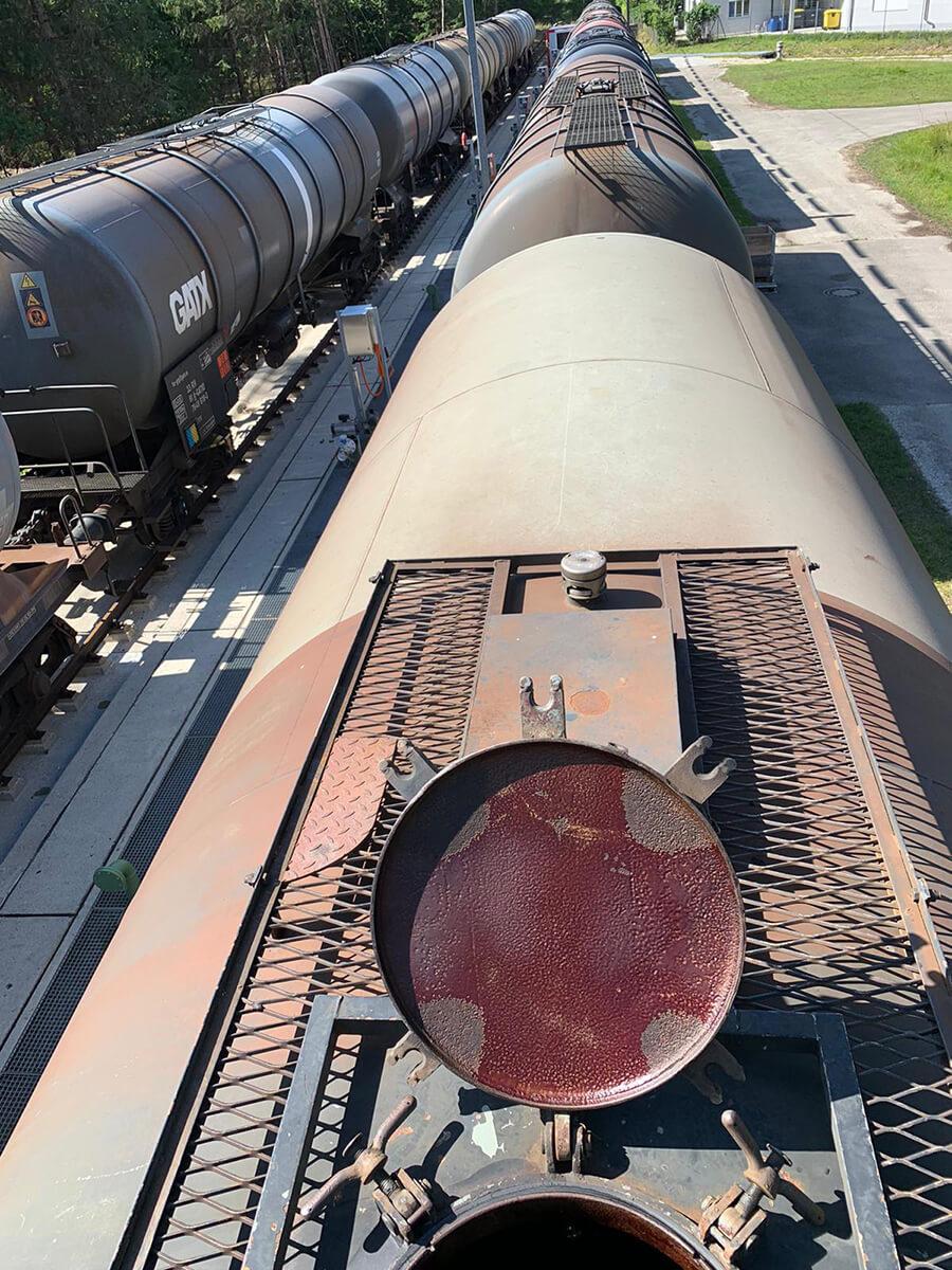 Reinigung Tank Kesselwagon