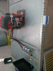 Filtereinheit Entlüfter für Industriebrenner mit Auffangwanne und Lecküberwachung fertig montiert